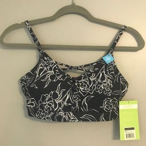 Bra Work Out Navy and White Floral Print Small